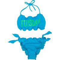 Alberta Ferretti Kids Thursday Print Bikini - Azul