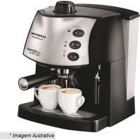 Máquina De Café Expresso Coffee Cream- Preta & Prateada