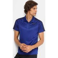 Camisa Polo Adidas D2M 3S Masculina - Masculino-Azul