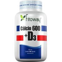 Cálcio 600 + D3 - 180 Cápsulas - Fitoway