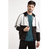 Jaqueta Masculina Ace Esportiva Com Recortes E Capuz Preta