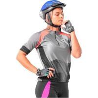 Camisa Ciclista Com Ziper Amber Feminina - Feminino