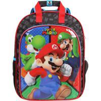 705d58f80 Mochila Escolar Super Mario Turma Com Placa