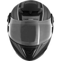 Capacete Moto G6 Pro Tam.58 Preto E Cinza Pro Tork