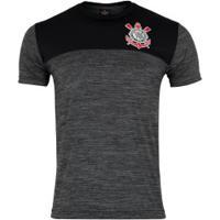 Camiseta Do Corinthians Corrêa - Masculina - Preto Mescla