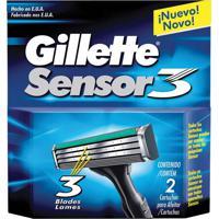 Carga Gillette Sensor 3 Com 2 Unidades