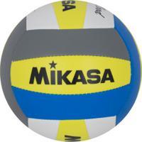 Bola De Vôlei De Praia Mikasa Vxs Bmd - Amarelo/Azul