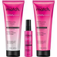 Combo Match Patrulha Do Frizz: Shampoo, 250Ml + Condicionador, 250Ml + Sérum Capilar, 50Ml