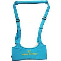 Andador Portátil Colete Manual Para Bebê Walking Assistant - Feminino-Azul