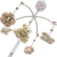 Móbile Musical Ursa Floral Enoy Rosa