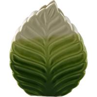 Vaso Folhagem- Verde & Bege Claro- 15,5X13X6Cm- Full Fit