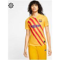 "Camisa Nike Barcelona ""Senyera"" 2019/20 Torcedora Pro Feminina"