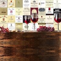 Adesivo Azulejos Rótulos De Vinhos Importados
