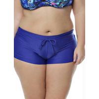 Calcinha Shorts Plus Size Acqua Rosa Azul Royal