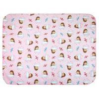 Cobertor Pequeno Bebê Feminino Rosa Boneca Nas Nuvens - Bercinho - Tamanho Único - Rosa