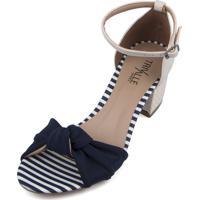 Sandália Trivalle Shoes Azul Com Laço