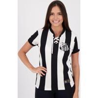 Camisa Santos Retrô Cordinha Feminina - Feminino