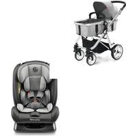 Combo Passeio - Cadeira Para Auto Mass 0-36Kgs E Carrinho De Bebê Berço Com Moisés Hero Ts Até 15Kg Cinza Fisher-Price - Bb331K