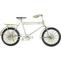 Bicicleta Decorativa- Prateada & Preta- 13X23X7Cmbtc Decor