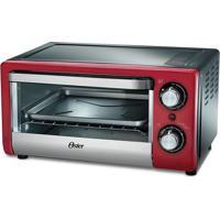 Forno Compact- Vermelho & Prateado- 25,5X41,5X33,8Cmoster