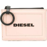 Diesel Porta-Moedas Chaveiro Bicolor - Cinza