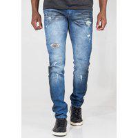 Calça Jeans Masculina Squash Destroyed Desfiada Stonada