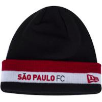 Gorro Do São Paulo New Era - Adulto - Preto/Vermelho