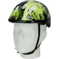 Kit Proteção Para Bike Spin Radical Com 1 Par De: Joelheiras + Cotoveleiras + 1 Capacete - Infantil - Verde/Preto