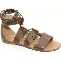 Sandália Top Franca Shoes Gladiadora - Feminino-Marrom