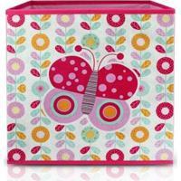 Caixa Organizadora Infantil Jacki Design Feminina - Feminino-Rosa