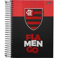 Caderno Foroni Flamengo Escudo 20 Matérias Preto