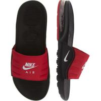 Chinelo Nike Air Max Camden - Slide - Masculino - Preto/Vermelho