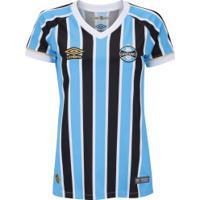 ... Camisa Do Grêmio I 2018 Umbro - Feminina - Azul Claro 3f5587d02e606