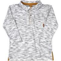 Camisa Polo Manga Longa Getblack Branco
