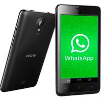 "Smartphone Cce Motion Plus Sc452Tv - Dual Chip - Tv Digital - 3G - Wi-Fi - Tela De 4.5"" - Dual Core - 4Mp - Android 4.2 - Preto"