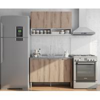 Cozinha Compacta 5 Portas Essence Desira/Branco - Aroma