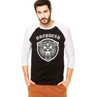 Camiseta Dropdead Tigre Preta/Branca