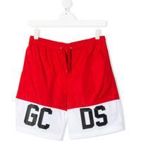 Gcds Kids Short De Natação - Vermelho