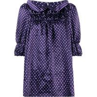 Comme Des Garçons Girl Dotted Short Sleeved Blouse - Azul