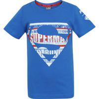 Camiseta Puma Liga Da Justiça - Infantil - Azul