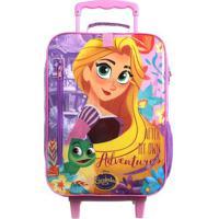 Mala Escolar Rapunzel®- Roxa Amarela- 51X30X16Cmbdermiwil