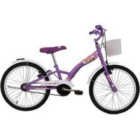 Bicicleta Feminina Aro 20 Fashion Com Cestinha - Feminino