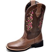 Bota Top Franca Shoes Texana Café