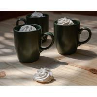 Caneca Le Mug Em Cerâmica Verde Escuro 260Ml