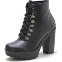 Bota Navit Shoes Tratorada Copenhagen Preta - Preto - Feminino - Dafiti