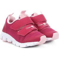 Tênis Infantil Bibi Icon Baby Cat Velcros Feminino - Feminino-Pink