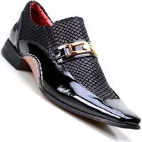 384a9f47d2b3d ... Sapato Social Masculino Calvest Super Confortável - Masculino-Preto