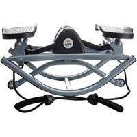 Balance Stepper Com Elásticos Extensores E Tapete Antiderrapante Acte Sports E6 - Preto/Cinza