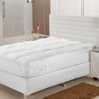 Pillow Top Fibra Siliconizada Em Flocos Casal 138X188 Plumasul
