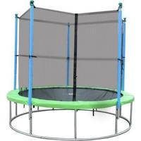 Cama Elástica (Pula-Pula) 3,65M Com Rede De Segurança - Unissex-Verde+Azul